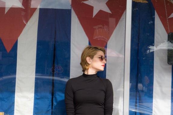 Cuban flag background